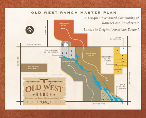 OWR CO Master Plan Site Map Revised - Colorado Springs Ranch land for sale - rural real estate