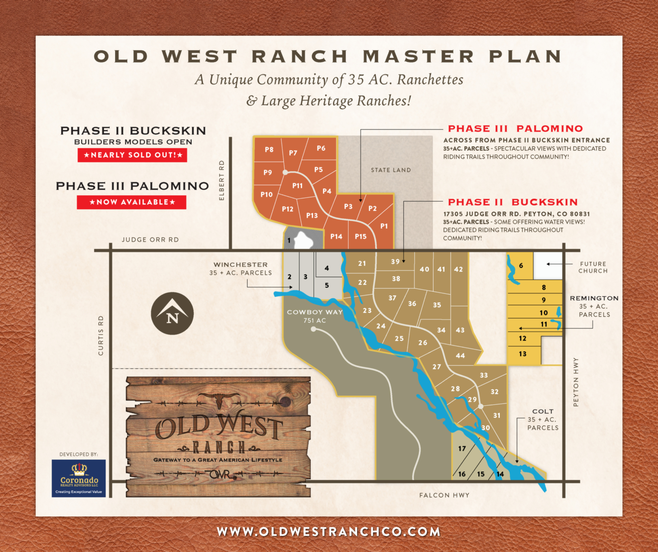 Old West Ranch Colorado land for sale Master Plan Map 4.24.20